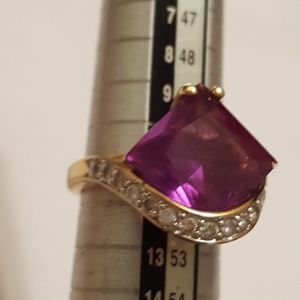 925 silver ring Halo Diamond size,5